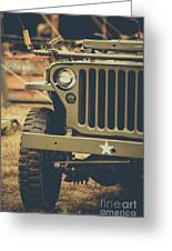 Us Army Jeep World War II Greeting Card