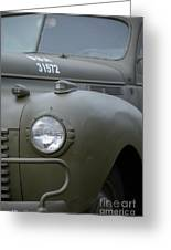 Us Army Staff Car World War II Greeting Card