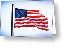 U.s. Flag 5 Greeting Card