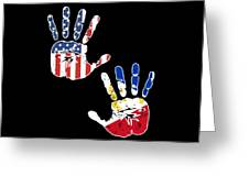 Usa Philippines Handprint Flag Proud Filipino American Heritage Biracial American Roots Culture Descendents
