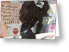 Uschi Obermaier Kommune 1 - Plakative Collage Greeting Card