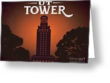 Ut Tower Greeting Card