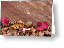 Utah, Autumn Leaves Piled Greeting Card