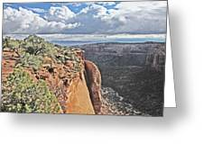 Valley Colorado National Monument Sky Clouds 2892 Greeting Card