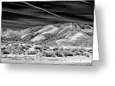 Valley Of Fire Black White Nevada  Greeting Card