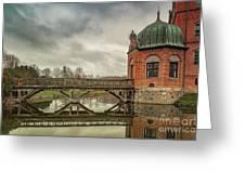 Vallo Castle Wooden Moat Bridge Greeting Card