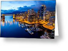 Vancouver Night View Greeting Card