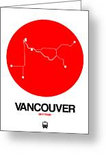 Vancouver Red Subway Map Greeting Card