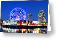 Vancouver Science World At Night Greeting Card