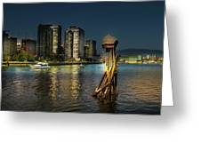 Vancouver Sunset Greeting Card by Juan Contreras