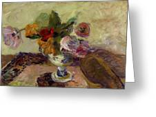 Vase Of Flowers 1886 Greeting Card