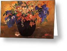 Vase Of Flowers 1896 Greeting Card