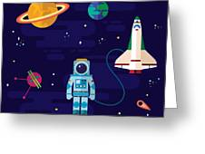 Vector Flat Space Elements With Greeting Card