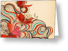 Vector Floral Background Greeting Card