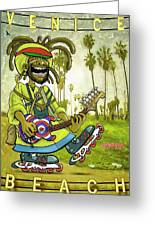 Venice Beach Rasta Roller Greeting Card