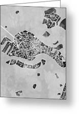Venice Italy City Map Greeting Card