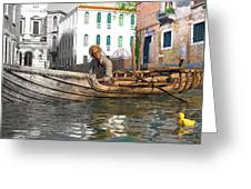 Venice Pause In The Evening Greeting Card