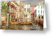 Venice The Little Yellow Duck Greeting Card