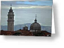 Venice Tower And Dome Greeting Card