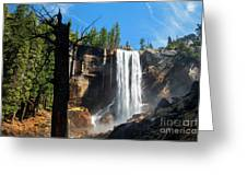 Vernal Fall, Yosemite National Park Greeting Card