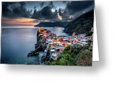 Vernazza Cityscape Greeting Card