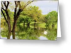 Veteran's Lake 01 Greeting Card by Rob Graham
