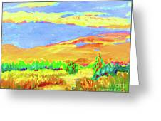 Vibrant Landscape  Greeting Card