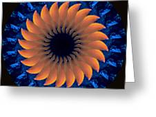 Vibrant Sun Greeting Card