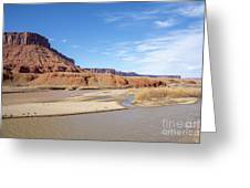 View At Sorrel River Ranch On The Colorado River Near Moab, Utah Greeting Card
