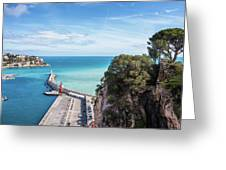 View From Castle Hill To The Sea In Nice Greeting Card