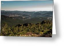 View From Flattop Mountain Trail Greeting Card