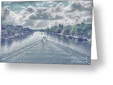 View From Kingston Bridge Greeting Card