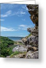 View From Pennard Castle Portrait Greeting Card