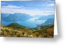 View From Rifugio Menaggio Lake Como Italy Greeting Card