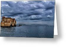 View Of Castel Dell Ovo  Greeting Card