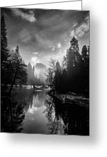 View Of Half Dome II Greeting Card