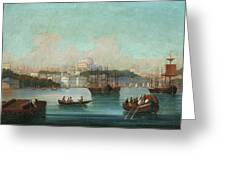 View Of Istanbul - 1 Greeting Card