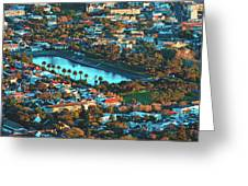 View Of Molteno Reservoir - Cape Town Greeting Card