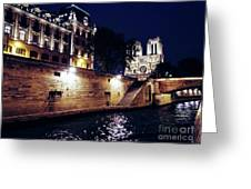View Of Notre Dame From The Sienne River In Paris, France Greeting Card