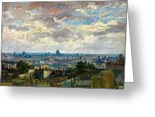 View Of Paris - Digital Remastered Edition Greeting Card