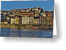 View Of Porto And Douro River Greeting Card