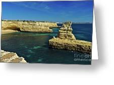 View Of Praia Deserta In Algarve Greeting Card