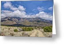 View Of Sandia Mountain Greeting Card
