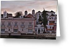 View Of Tavira From Gilaos River Bank Greeting Card