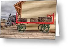 Vintage Baggage Cart Greeting Card