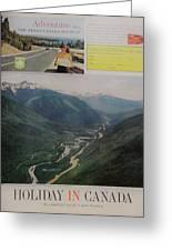Vintage Canada Advertisement Greeting Card