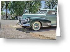 Vintage Car Chevy Fleetmaster Greeting Card