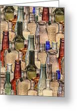 Vintage Glass Bottles Collage Greeting Card