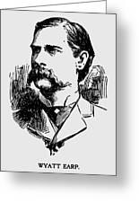 Vintage Newspaper Wyatt Earp Portrait 1896 - T-shirt Greeting Card