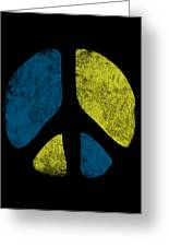 Vintage Peace Sign Greeting Card